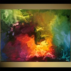 Original abstract art paintings by Osnat - colorful abstract painting
