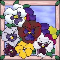 stained glass patterns roses - Google Search