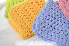 Beautiful Crochet Dish Towels