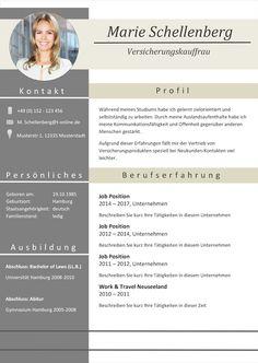 44 Lebenslauf Muster & Vorlagen für die Bewerbung 2015   Resume (D ...