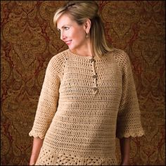 On-The-Town Top (Classic) by Marty Miller. Crochet jumper. 10 ply 197m/100g x 6. 5.0 & 5.5mm hook. Crochet World 2013. Glorious Granny Squares. Saved to Evernote/ iBooks.