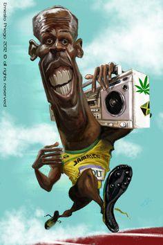 Usain Bolt by Ernesto Priego