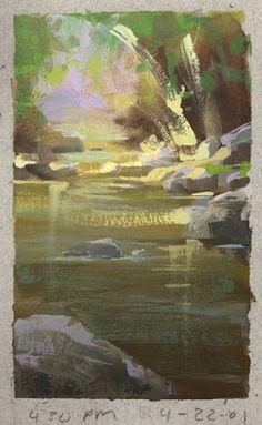 Nathan Fowkes, Land Sketch: Big Tujunga Creek.