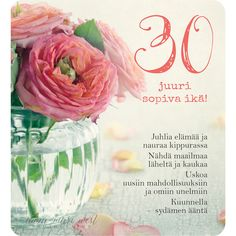30v-juuri-sopiva-ikä Happy B Day, Wise Words, Diy And Crafts, Poems, Happy Birthday, Gift Wrapping, Quotes, Cards, Gifts