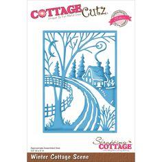 CottageCutz Elites Die - Winter Cottage Scene