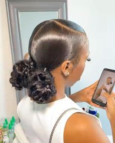Hair Ponytail Styles, Black Girl Braided Hairstyles, Slick Hairstyles, Sleek Ponytail, Baddie Hairstyles, Black Women Hairstyles, Curly Hair Styles, Weave Hairstyles, Protective Hairstyles
