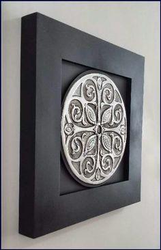 Mandalas Tin Foil Art, Aluminum Foil Art, Pewter Art, Pewter Metal, Ceramic Wall Art, Ceramic Pottery, Metal Embossing, Metal Stamping, Metal Worx