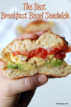 Mmm…the best breakfast bagel sandwich - NoBiggie.net #marzettirecipes
