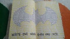 Image result for wreck this journal write one word over and over again