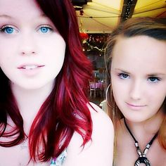 thats me with red hair & blue eyes Ive been asked for photos of me over my Tumblr but Im on limit so