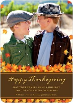 happy thanksgiving card - leaves and font ideas