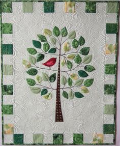 """Life is a Celebration"" by Flourishing Palms (Florida). Design by Kellie Wulfsohn at Don't Look Now (Australia). Appliqued and quilted in a single step (see the description)"