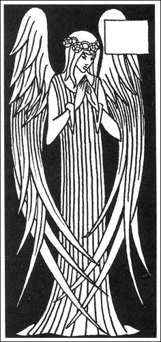aubrey beardsley -angel - la mort d'artur