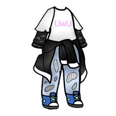 New clothes for your gacha characters💖 sticker by 𝙸 𝚊𝙻𝚒𝚅𝚎🦠❌. Cartoon Outfits, Anime Outfits, Manga Clothes, Drawing Anime Clothes, Cute Anime Character, Character Outfits, Fashion Design Drawings, Fashion Sketches, Club Outfits