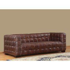 Nautical Leather Sofa