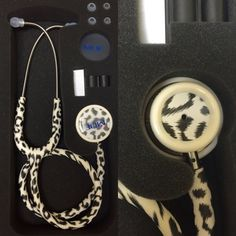 Leopard Print MDF MD One Stethoscope.