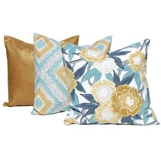 30 Off Decorative Throw Pillow Covers Three Sofa Pillow Covers Floral... ($38) ❤ liked on Polyvore featuring home, home decor, throw pillows, decorative pillows, home & living, home décor, silver, square pillow shams, floral accent pillows and holiday throw pillows