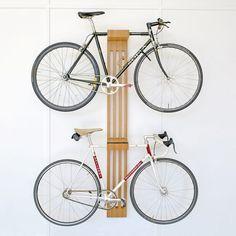 Timber product manufacturer located in Byron Bay's hinterland. Bike Storage Design, Bike Storage Home, Bicycle Storage, Garage Storage, Bike Hanger, Bike Rack, Garage Velo, Velo Design, Bike Wall Mount