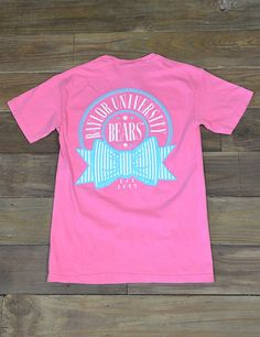 With fun colors and the cool new puffy design, this Comfort Colors tee is perfect for every Baylor girl! Go BU Bears!