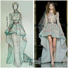 Ideas for dress hijab soiree haute couture Fashion Drawing Dresses, Fashion Illustration Dresses, Fashion Dresses, Dress Design Sketches, Fashion Design Sketches, Muslim Fashion, Modest Fashion, Hijab Fashion, Hijab Dress Party