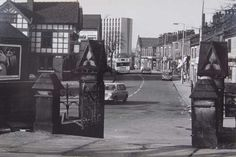Blackley Village, ICI in the background, Manchester.