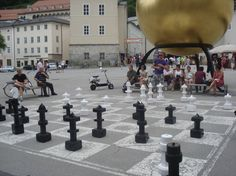 Chess Pieces in Munich Germany