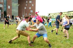 Different challenges during the AID Campus Games. #AID2015