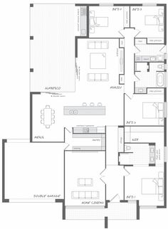 The Dalton - the Abode Collection. With a slight touch of country charm yet not comprising in its contemporary look and feel, this beautiful home will truly delight anyone who enters. Living here will be a joy. #weeksbuilding #home #house #floorplan