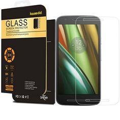 Moto E3 Screen Protector, Moto E3 Protector Tempered Glass, Kaseberry Kasedd Full Coverage Anti-Glare Screen Protector for Moto E3, 1 Pack -- Read more  at the image link.