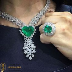#Shine in the crowd with the precious #emerald #jewelry