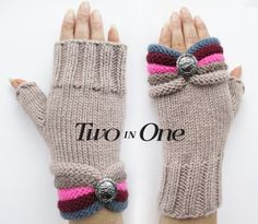 Gloves – Fingerless gloves, Fingerless Knitted Hand Warmers – a unique product by GlovesAndMittens on DaWanda