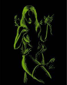 Poison Ivy - Batman - by @ Deviant Art Poison Ivy Batman, Dc Poison Ivy, Poison Ivy Dc Comics, Comic Book Characters, Comic Books Art, Comic Art, Hq Marvel, Scratch Art, Catwoman