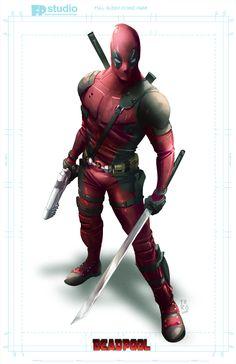 #Deadpool #Fan #Art. (DeadPool) By:Fernando Peniche. (THE * 5 * STÅR * ÅWARD * OF * MAJOR ÅWESOMENESS!!!™) [THANK U 4 PINNING!!!<·><]