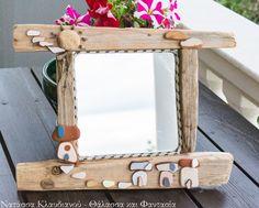 FantaSea - Made by Natassa Klavdianou Driftwood Mirror, Frame, Table, Furniture, Decoration, Home Decor, Picture Frame, Decor, Decoration Home
