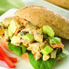 Recipes - Chicken Bombay Salad in Whole Grain Rolls - Chicken.ca