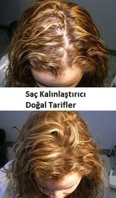 Daha kalın saçlara sahip olmak için doğal tarifler.