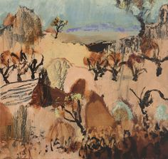 Sciberras Luke East of Wilcannia Pastel Landscape, Abstract Landscape Painting, Contemporary Landscape, Urban Landscape, Landscape Art, Landscape Paintings, Painting Trees, Abstract Art, Landscapes