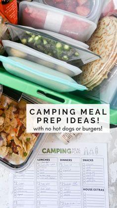 Camping Meal Planning, Camping Menu, Camping List, Family Camping, Camping Hacks, Outdoor Camping, Camping Checklist, Camping Essentials, Camping Recipes