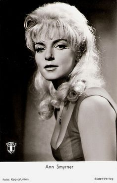 Danish actress Ann Smyrner (1934) was the glamorous star of more than 50 European B-films of the 1950's and 1960's. The blonde sex bomb spent most of her screen career in Germany. After appearing in several sex comedies, she retired and started to study theology.