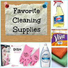 Favorite cleaning supplies from a lazy cleaner