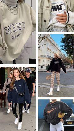 Nike sweatshirt inspiration - nike vintage sweatshirt Source by megancrean - Athleisure Outfits, Nike Outfits, Retro Outfits, Trendy Outfits, Vintage Outfits, Fashion Outfits, Vintage Nike Sweatshirt, Sweatshirt Outfit, Trendy Hoodies