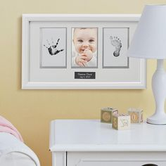 Babyprints Photo Frame | Personal Creations...I just remembered that I bought this for Ethan so Gita do it soon!
