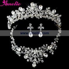 Kristall strass und perle tiara kopfstück& schmuck set-Bild-Schmuckwarenset-Produkt ID:826690996-german.alibaba.com