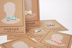forage bow ties business cards
