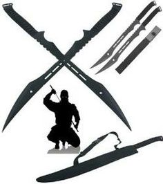 serated snake sword | double ninja swords with sheath perfect gift for avid collectors of ...