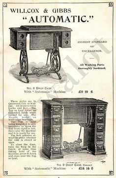 A site dedicated to sewing, sewing machines, collectors of sewing machines and other related topics. WILLCOX & GIBBS ...