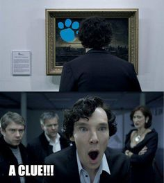 Funny pictures about Sherlock Finds Something. Oh, and cool pics about Sherlock Finds Something. Also, Sherlock Finds Something photos. Benedict Cumberbatch, Martin Freeman, Sherlock Holmes, Funny Sherlock, Watch Sherlock, Moriarty, Sherlock Fandom, Sherlock Quotes, Sherlock Nails