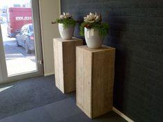 zuil van gebruikt steigerhout 100cm | * Steigerhout * | De Silo Meubels enzo