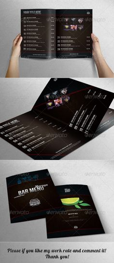 Elegant Bar Menu with Leather Background Template #design #alimentationmenu Download: http://graphicriver.net/item/elegant-bar-menu-with-leather-background/6761264?ref=ksioks