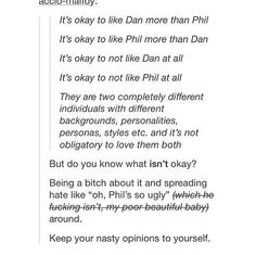 exactly- but it just makes me mad when people hate on phil for no reason, that's why I get mad